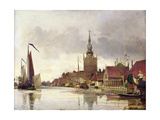 View of Overschie Near Rotterdam, 1856 Giclee Print by Johan-Barthold Jongkind