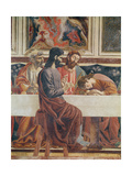 The Last Supper, Detail of Saint John, Saint Peter, Jesus and Judas, 1477 Giclée-tryk af Andrea Del Castagno