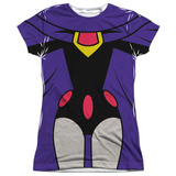 Juniors: Teen Titans Go- Raven Uniform Shirts