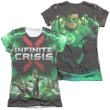 Juniors: Infinite Crisis- IC Green Lantern (Front/Back Print) T-shirts