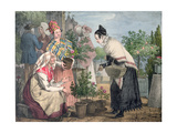 The Flower Market, Paris Giclee Print by John James Chalon