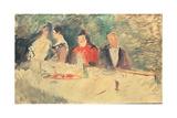 Sketch for 'The Supper', 1887 Lámina giclée por Henri de Toulouse-Lautrec