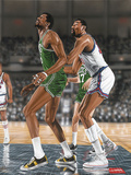 Wilt Chamberlin and Bill Russell Giclee Print by Darryl Vlasak