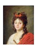 Portrait of Mademoiselle Maillard as the Goddess of Reason at the Fete De L'Eglise De Notre-Dame Giclee Print by Jean Francois Garneray