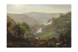 Waterfall Near Tivoli, C.1808 Giclee Print by Johann Martin Von Rohden