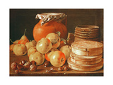 Still Life with Apples, Nuts, Pears, and Boxes of Sweets Giclee Print by Luis Egidio Melendez