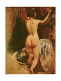 Female Nude Seen from the Back, C.1835-40 Giclee Print by William Etty