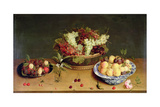 Fruit and Flowers Giclee Print by Isaac Soreau