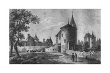 View of the Chateau De Montaigne Giclee Print by Jean Jerome Baugean