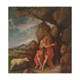 St. John the Baptist in the Desert Giclee Print by Pedro Orrente