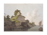 Hindoo Temple Near Currah, on the River Ganges Giclee Print by Thomas Daniell