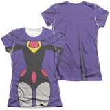 Juniors: Teen Titans Go- Raven Uniform (Front/Back Print) T-shirts