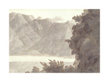 Head of Lake Geneva Giclee Print by Francis Towne