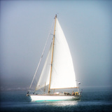 Sailboat into the mist Giclee Print by Jobe Waters