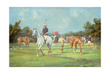 Preparing for a Game of Polo Giclee Print by George Wright