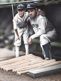 Babe Ruth and the Bat Boy Lámina giclée por Darryl Vlasak