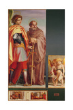 Polyptych from Vallombrosa Abbey, Detail of the Left Hand Side Giclee Print by  Andrea del Sarto