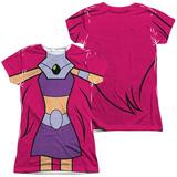Juniors: Teen Titans Go- Starfire Uniform (Front/Back Print) T-shirts