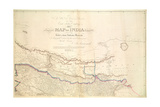 Map of India, 1822 Giclee Print by Aaron Arrowsmith