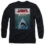 Long Sleeve: Jaws- Lined Poster T-shirts