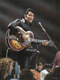 Elvis in Leather Giclee Print by Darryl Vlasak
