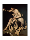 John the Baptist Playing with a Lamb Giclee Print by Michelangelo Merisi da Caravaggio