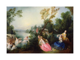 The Pleasures of Bathing Giclee Print by Nicolas Lancret