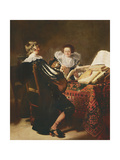 The Music Lesson Giclee Print by Thomas de Keyser