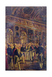 The Senate Presenting Louis Napoleon Bonaparte Giclee Print by Charles-Philippe Lariviere
