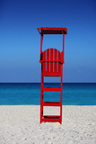 Caribbean Beach Lifegaurd Stand Giclee Print by Jobe Waters