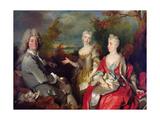 Family Portrait, C.1710 Giclee Print by Nicolas de Largilliere
