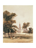 The Church of St Alphage from the Park, Greenwich, 1831 Giclee Print by Thomas Shotter Boys