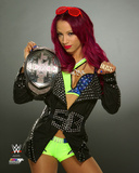 Sasha Banks with the NXT Women's Championship Belt 2015 Photo