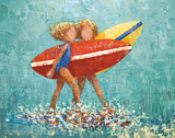 Surfers No 2 Prints by Rebecca Kinkead
