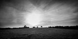 Sunset over Field Fotografisk tryk af Gary Turner