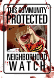 Protected By Zombies Tin Sign