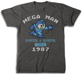 Mega Man- Running & Gunning Since 1987 T-Shirt