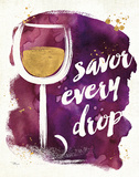 Watercolor Wine I Prints by Pela Studio