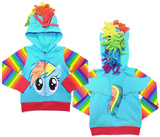 Toddler: My Little Pony- Rainbow Zip Hoodie Zip Hoodie