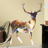 Deer With Socks Peel And Stick Giant Wall Decals Adhésif mural