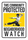 Protected By Bruce Lee Tin Sign