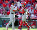 Carlos Villanueva & Yadier Molina 2015 Action Photo