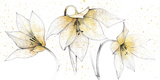 Gilded Graphite Floral Trio Poster by Avery Tillmon