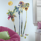 Watercolor Palm Trees Peel And Stick Giant Wall Decals Adhésif mural