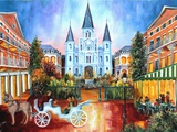 The Hours on Jackson Square Art by Diane Millsap