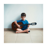 Boy with Guitar, 2013 Giclee Print by Max Ferguson