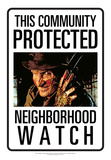 Protected By Freddy Tin Sign