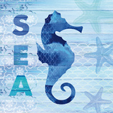 Sea Glass Seahorse Posters by  Studio Bella