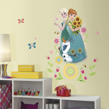 Disney Frozen Fever Group Peel And Stick Giant Wall Graphic Kalkomania ścienna