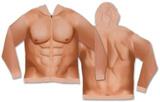 Zip Hoodie: Mens 6 Pack Costume Sweatshirt (Front/Back) Zip Hoodie
